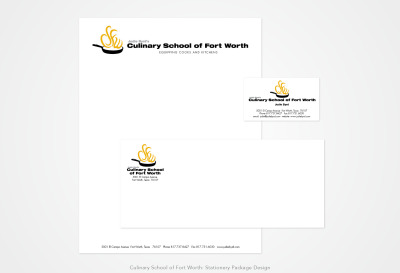 Culinary School of Fort Worth: Stationery Design Package